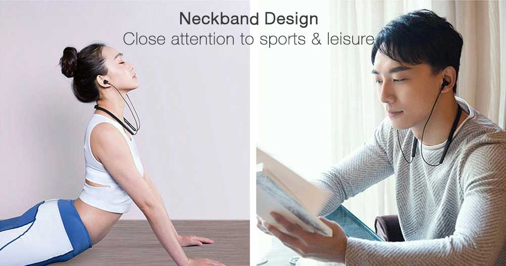 Xiaomi Mi Bluetooth Neckband Earphones Hybrid Dual Cell With Mic