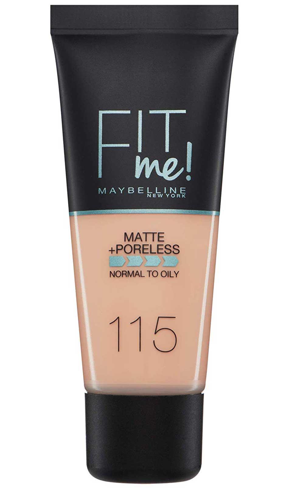 Maybelline New York Fit Me Matte Poreless 115 Ivory Foundation 30ml Makeup