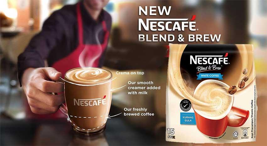 Nescafe Blend & Brew White Coffee 15Pcs - Coffee